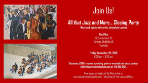 Final Night! All that Jazz and More - Closing Party - Friday November 29, 2019
