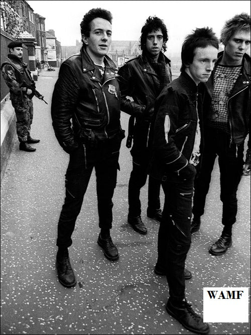 The Clash in Belfast, 1977, Limited Edition Print, signed by the celebrity photographer