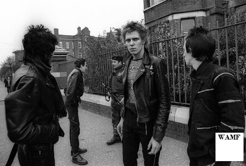 The Clash, Belfast, 1977 - 111, signed by the celebrity photographer