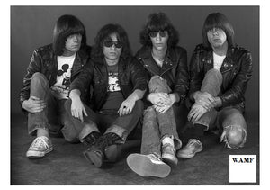 The Ramones, Johnny, Tommy, Joey and Dee Dee, Limited Edition Print, signed by the celebrity photographer