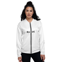 Unisex Bomber Jacket - NOT RUDE JUST SOCIAL DISTANCING