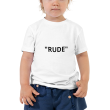 Toddler Short Sleeve Tee - NOT  RUDE JUST SOCIAL  DISTANCING