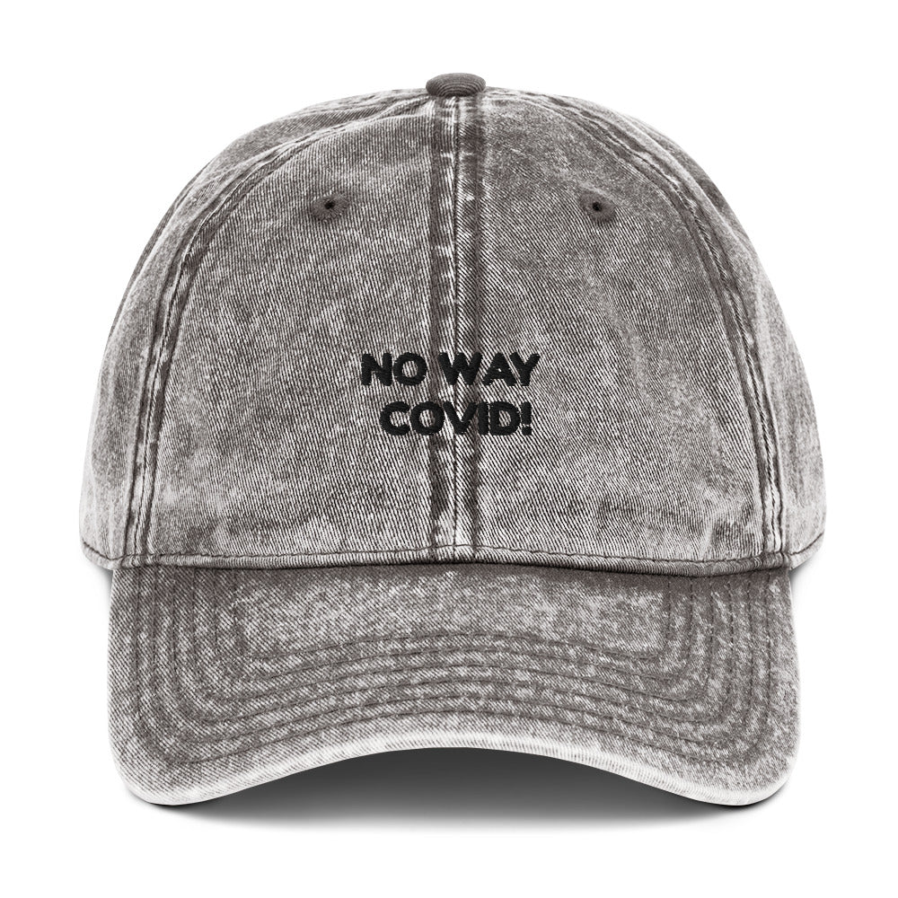 Vintage Cotton Twill Cap - NO WAY  COVID!