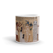 Ancient Egyptian etchings telling fascinating  stories, make this coffee cup a perfect morning ritual