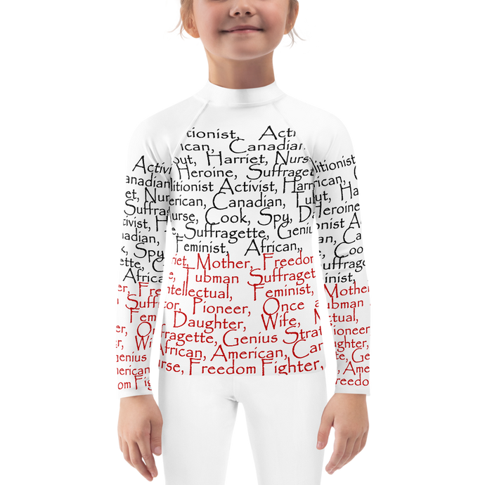Harriet Tubman Tribute Kids, Fitted Long Sleeve  Active Wear