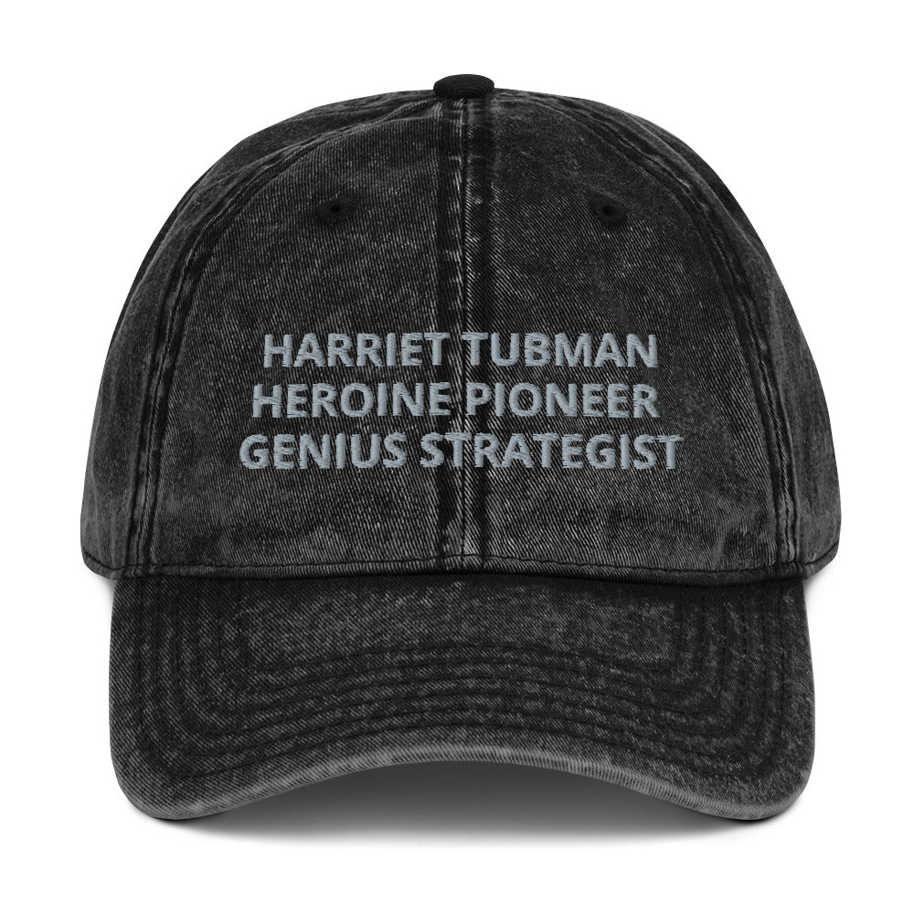 Harriet Tubman Tribute Vintage Cotton Twill Cap