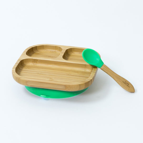 Green Bamboo Plate Set