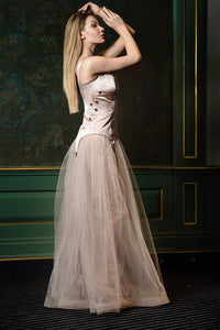 Pale pink corset dress
