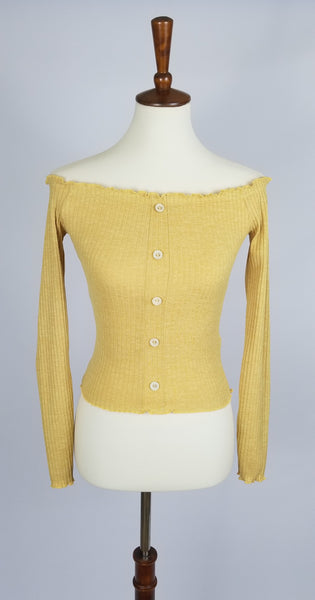 Off the Shoulder Top - Mustard