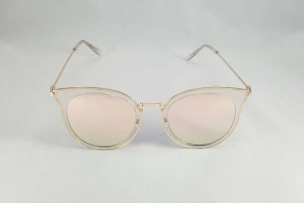 Mirrored Cateye Sunnies - Gold/Rose