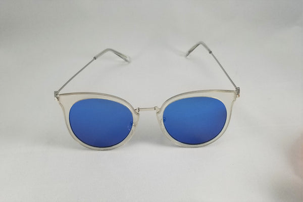 Mirrored Cateye Sunnies - Blue