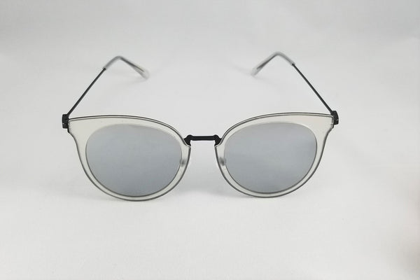 Mirrored Cateye Sunnies - Silver/Grey