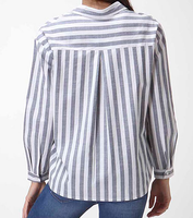 Striped Oversized Button Up