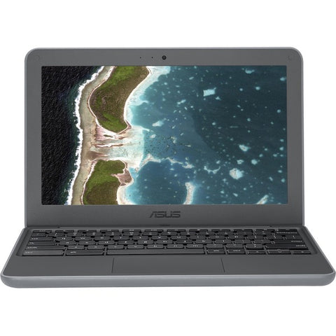 "ASUS Computer International Asus Chromebook C202SA-Q1-CB 11.6"" LCD Chromebook - Intel Celeron N3060 Dual-core (2 Core) 1.60 GHz - 4 GB LPDDR3 - 16 GB Flash Memory - Chrome OS - 1366 x 768 - Dark Gray"