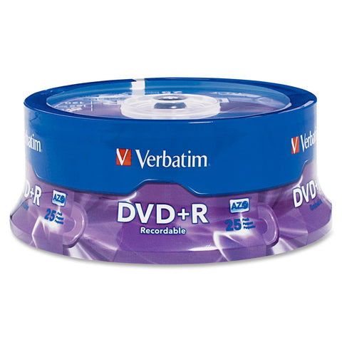 Verbatim America, LLC  - 25 X DVD+R 4.7 GB 16X - SPINDLE