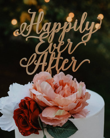 Happily Ever After Topper Boda