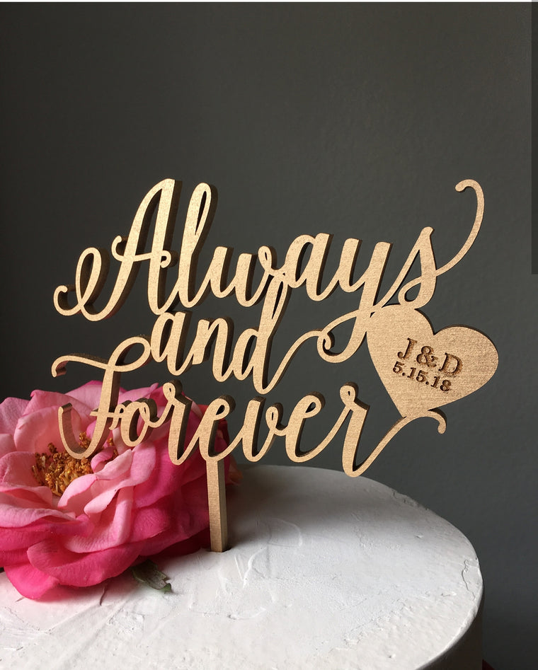 Always And Forever Topper Boda