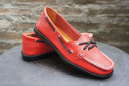 Gimoni Boat Shoes Red.