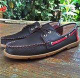 Boat Shoes Cafe/talon negro