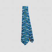 Rooftops in Winter Print Silk Tie