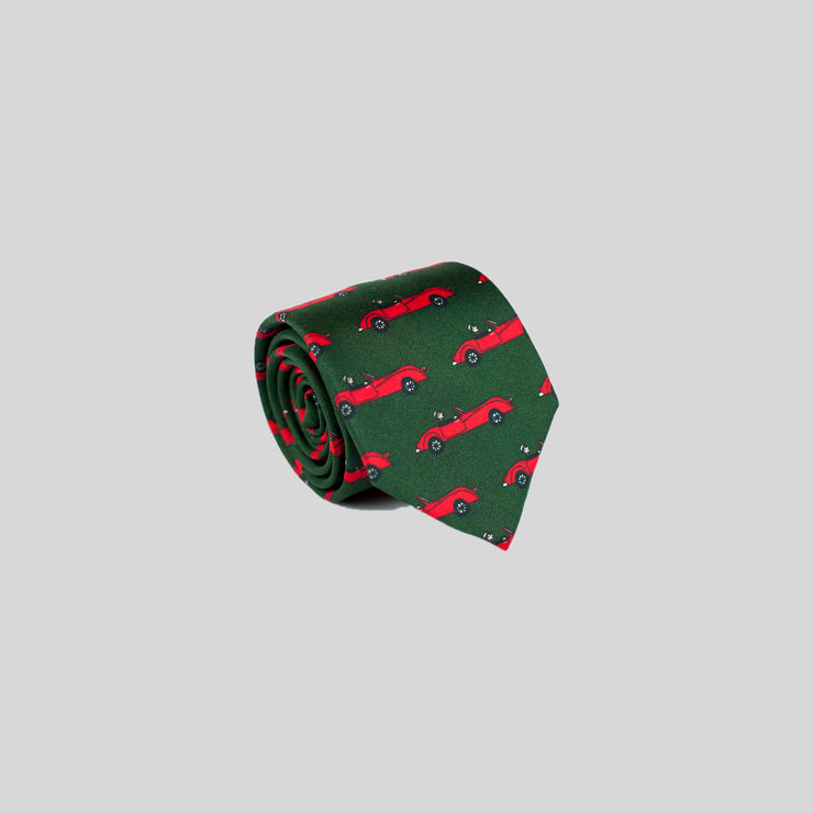 Jesse Spitzer Convertible Car Silk Tie Made in Italy