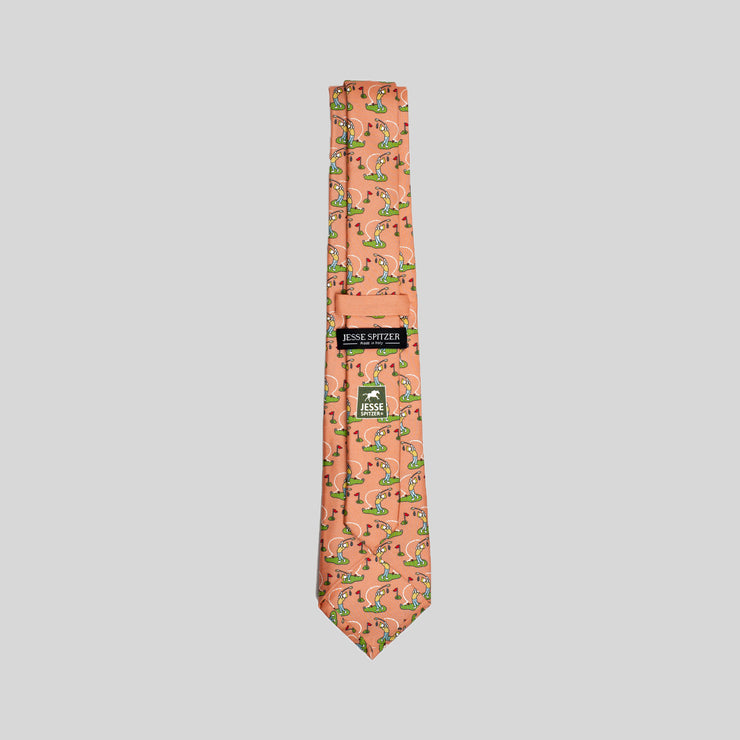 Jesse Spitzer Golf Swing Silk Tie Made in Italy