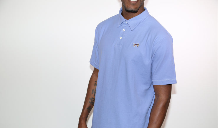 Heather Cotton Pique Polo Shirt