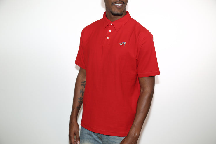 Jesse Spitzer Men's Red Pique Polo Shirt
