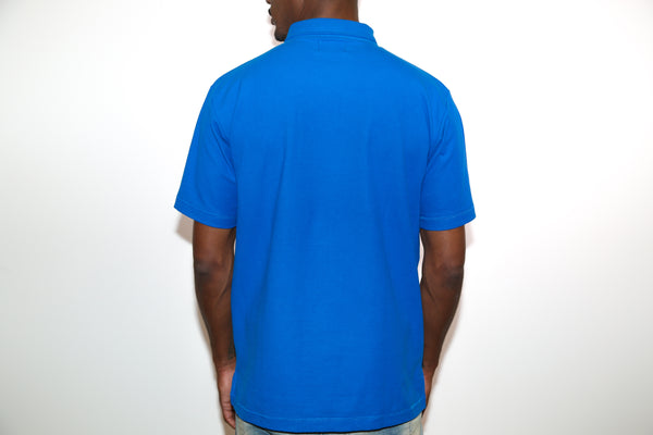 Jesse Spitzer Men's Royal Blue Pique Polo Shirt