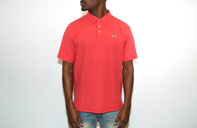 Jesse Spitzer Men's Coral Pique Polo Shirt