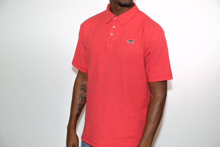 Coral Cotton Pique Polo Shirt