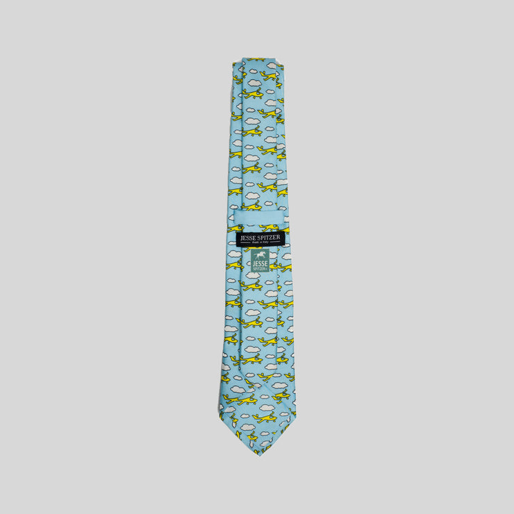 Jesse Spitzer Jetsetter Airplane Silk Tie Made in Italy