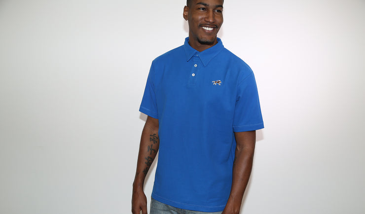 Royal Blue Cotton Pique Polo Shirt