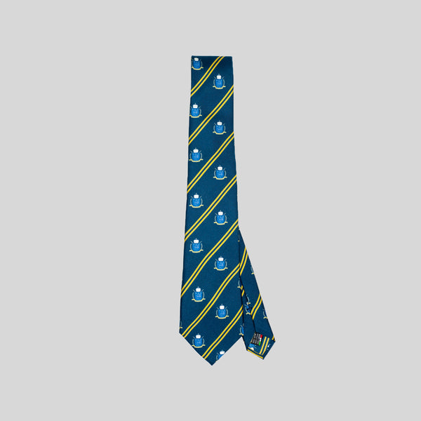 Jesse Spitzer Club Print Silk Tie Made in Italy
