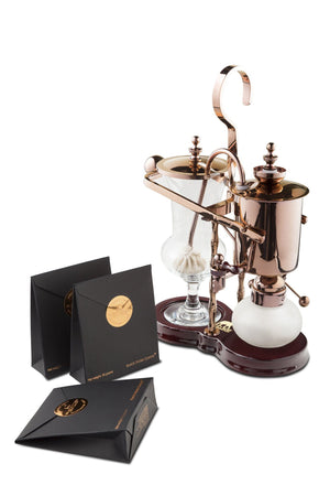 Black Ivory Coffee Brewer And Triple Package