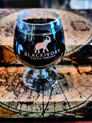 Brandy style Black Ivory Coffee glass
