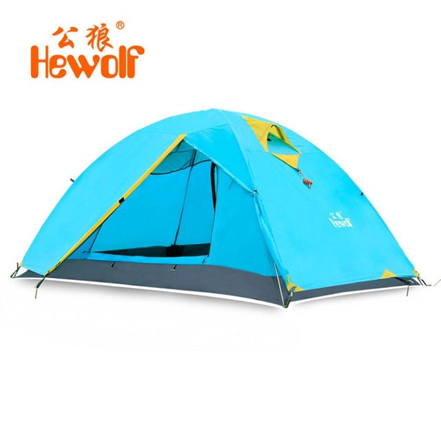 Hewolf 2 Person Tents Camping Tents Double Layer Waterproof Windproof Outdoor Tent For Hiking Fishing Hunting Beach Picnic Party - Getbackpacking365.com