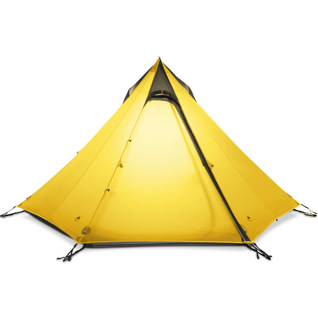 3F UL GEAR Ultralight Outdoor C&ing Teepee 15D Silnylon Pyramid Tent 2-3 Person Large  sc 1 st  Getbackpacking365.com & 3F UL GEAR Ultralight Outdoor Camping Teepee 15D Silnylon Pyramid ...