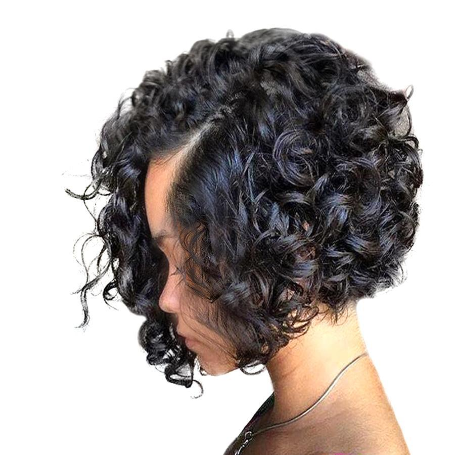 Non Remy Curly Short Bob Cut Hair extension
