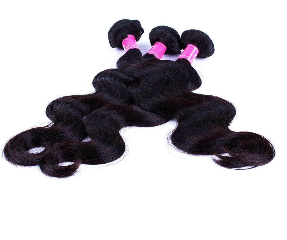 "Non Remy 8"" - 26"" Brazilian Body Wave 1 Piece 100% Human Hair in Natural Color"