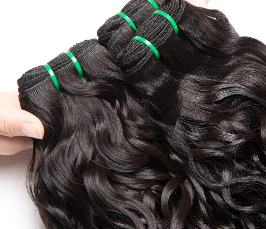 Non Remy Brazilian Water Wave Hair Extensions
