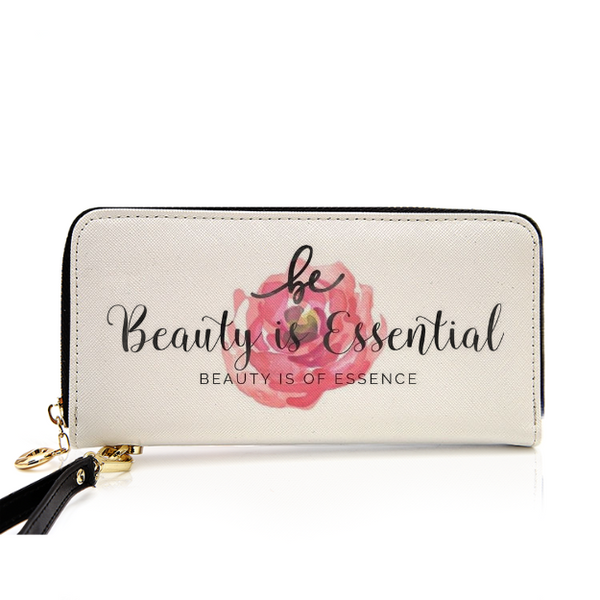 Beauty Is Essential Leather Wallet