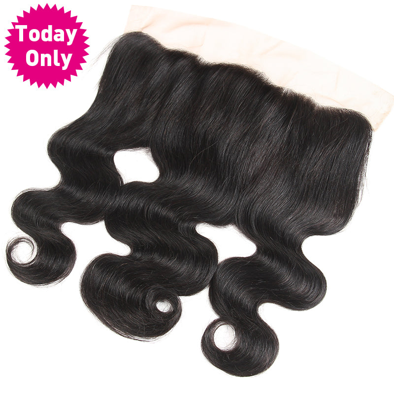 Brazilian Body wave Human hair bundles with frontal lace closure