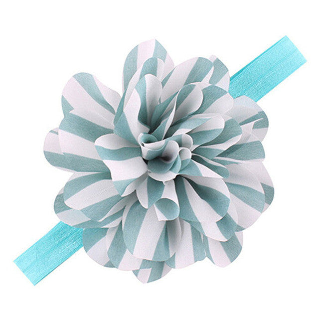 Striped Flower Headbands