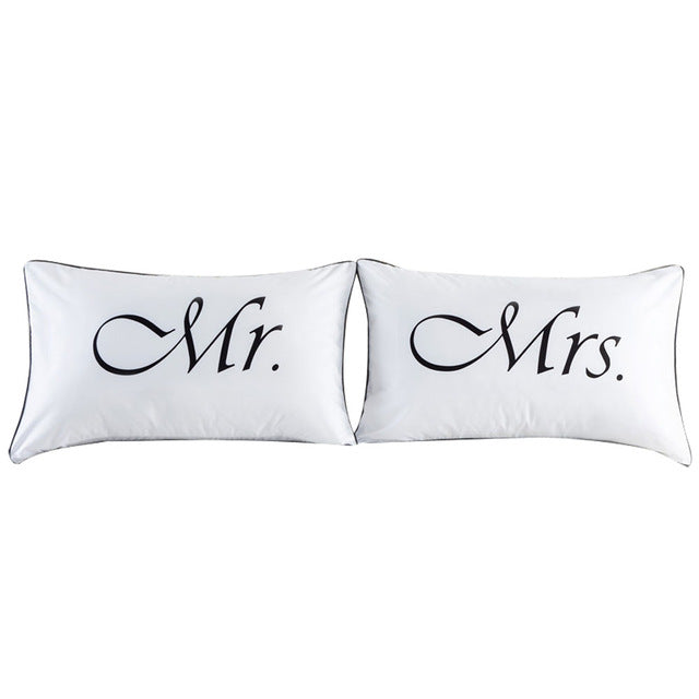King and Queen Pillow Covers Couples Pillowcases