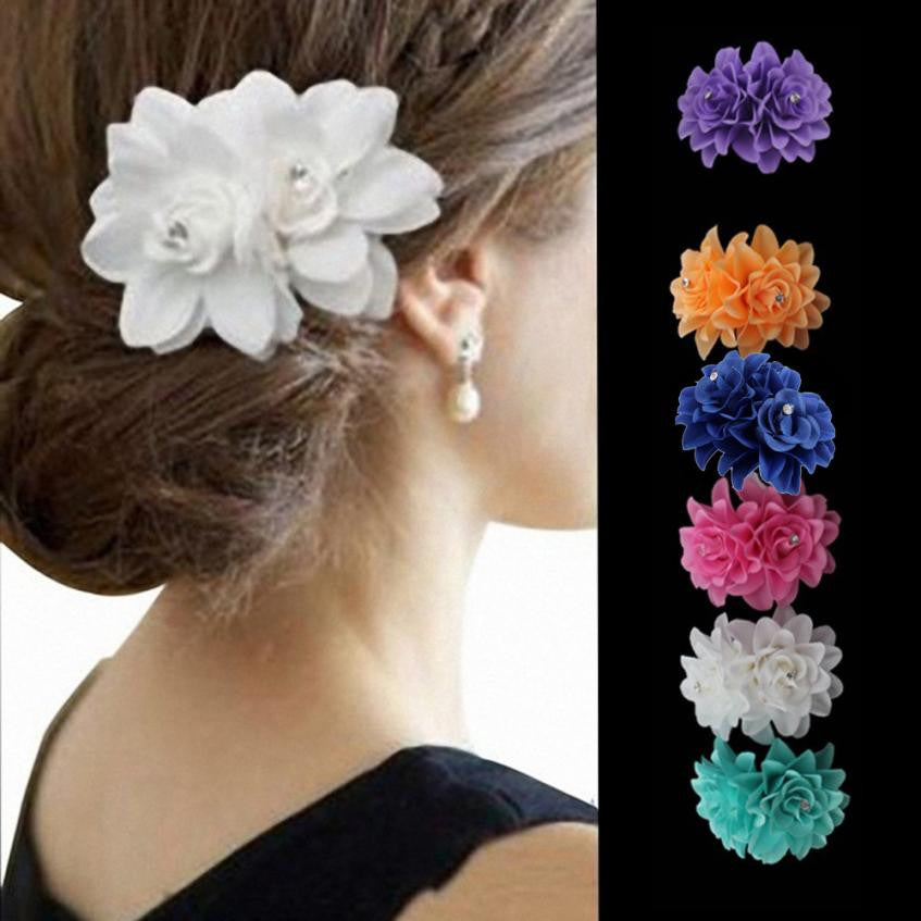 Beautiful Flower Hair Pin Clip