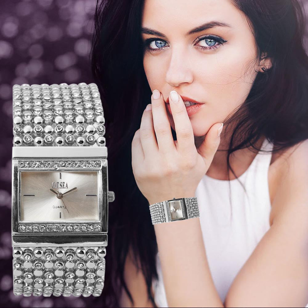Rhinestone Crystal Analog Wrist Watch