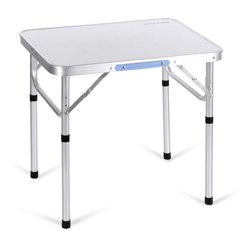 ANCHEER Portable Folding Table Outdoor Camping Aluminum Table Garden Pinic Desk
