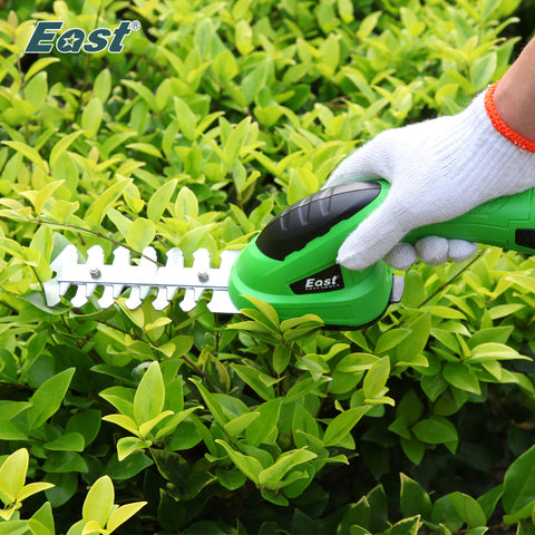 East Power Bonsai Tools 3.6V Combo Lawn Mower Li-Ion Rechargeable Hedge Trimmer Grass Cutter Cordless Garden Tools ET1205 2in1