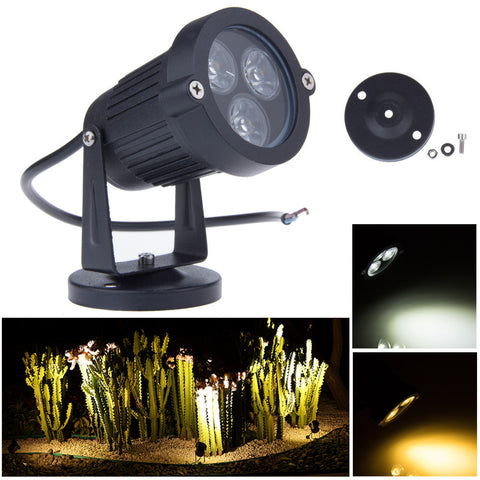 3*3W 12V Led garden lights Lawn lamps IP65 Waterproof Outdoor Spot flood lighting Decorative Freeshipping
